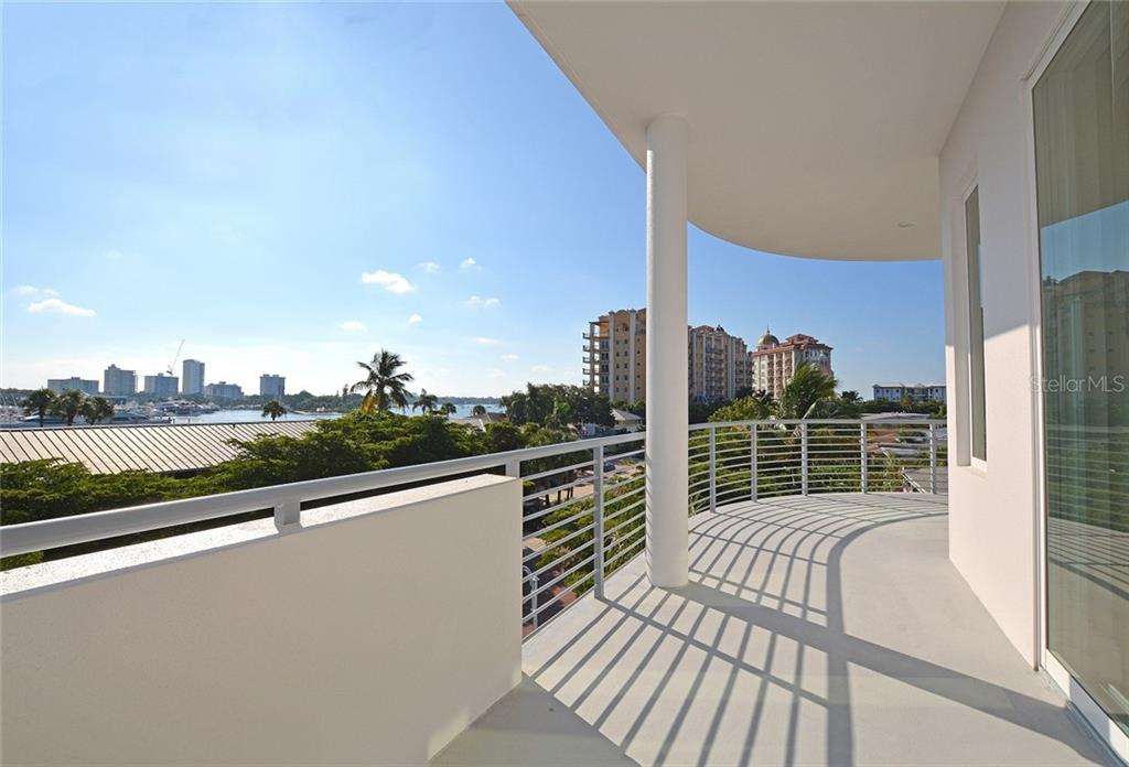 Rare spacious outdoor living with three terraces for each unit. - Condo for sale at 609 Golden Gate Pt #301, Sarasota, FL 34236 - MLS Number is A4422419