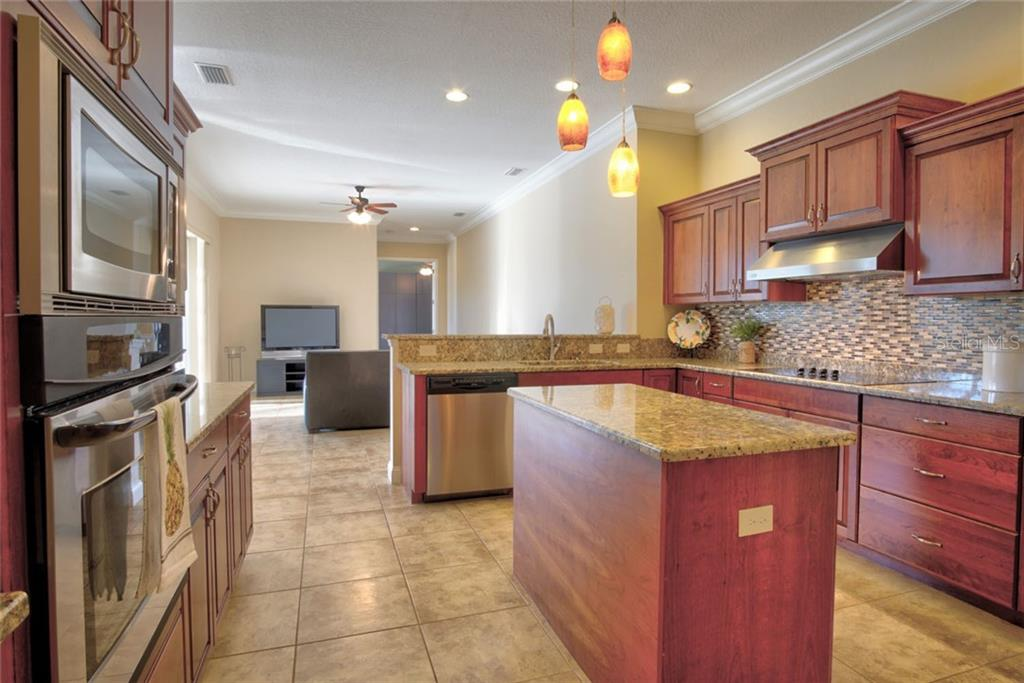 Kitchen, solid wood cabinets, granite counter tops - Single Family Home for sale at 29425 Saddlebag Trl, Myakka City, FL 34251 - MLS Number is A4422648