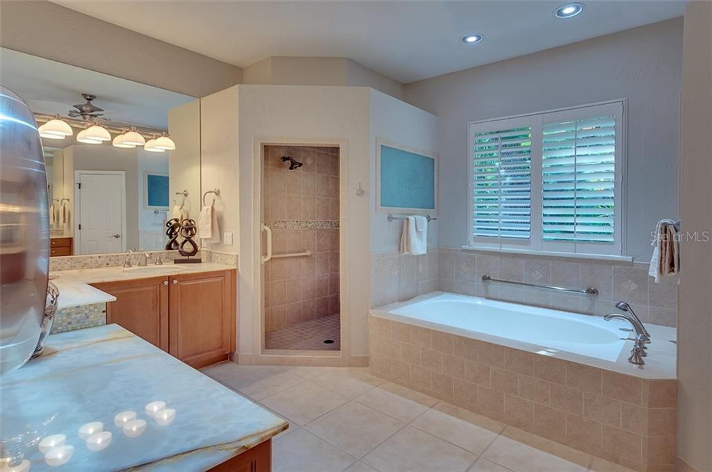 Luxurious master bath. - Single Family Home for sale at 2972 Jeff Myers Cir, Sarasota, FL 34240 - MLS Number is A4424133