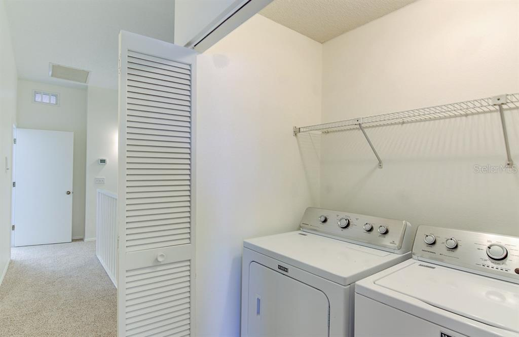 Laundry on third floor with bedrooms - Condo for sale at 773 Benjamin Franklin Dr #7, Sarasota, FL 34236 - MLS Number is A4427752