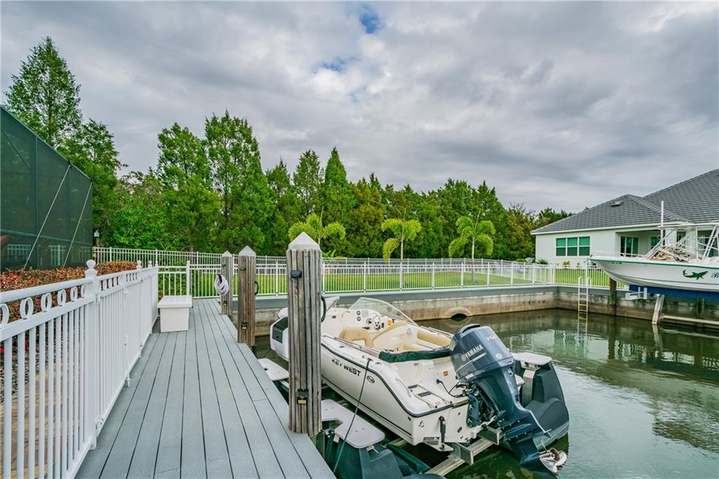 Pull your boat right up to your back yard and enjoy the Florida lifestyle! - Single Family Home for sale at 595 Fore Dr, Bradenton, FL 34208 - MLS Number is A4428657
