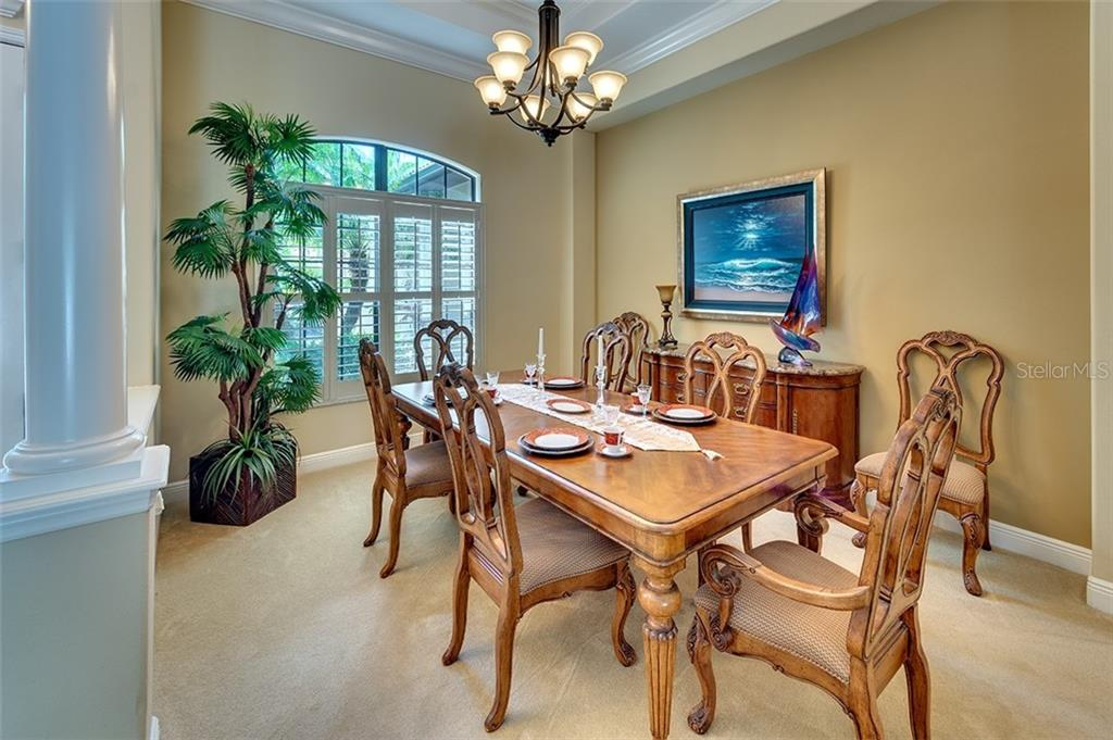 Spacious dining room - Single Family Home for sale at 3753 Eagle Hammock Dr, Sarasota, FL 34240 - MLS Number is A4431001