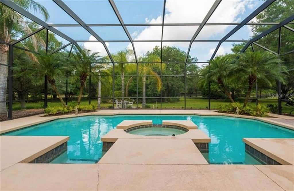 Enjoy many happy hours at your pool side tiki bar - Single Family Home for sale at 29215 Saddlebag Trl, Myakka City, FL 34251 - MLS Number is A4431037