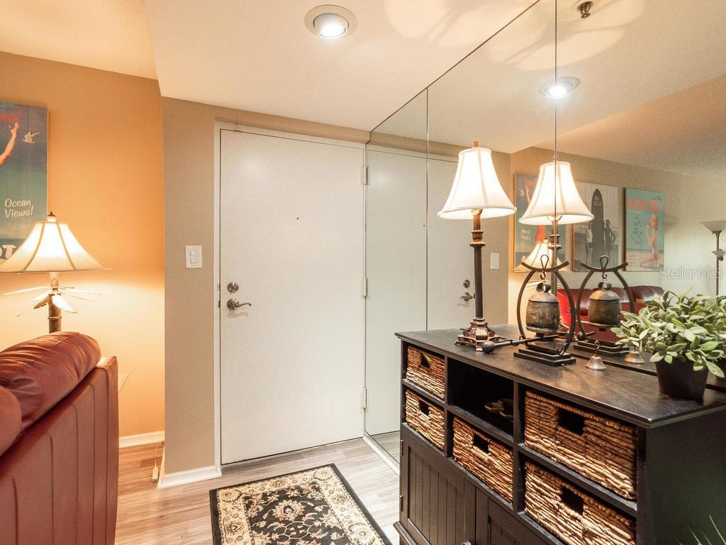 Entry Foyer to your ground floor unit - Condo for sale at 131 Garfield Dr #1b, Sarasota, FL 34236 - MLS Number is A4432013