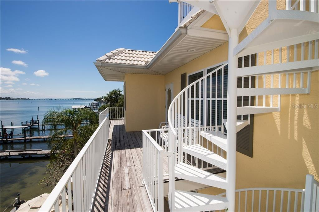 Spiral Staircase to the Roof Top Deck - Single Family Home for sale at 2405 Avenue A, Bradenton Beach, FL 34217 - MLS Number is A4433128