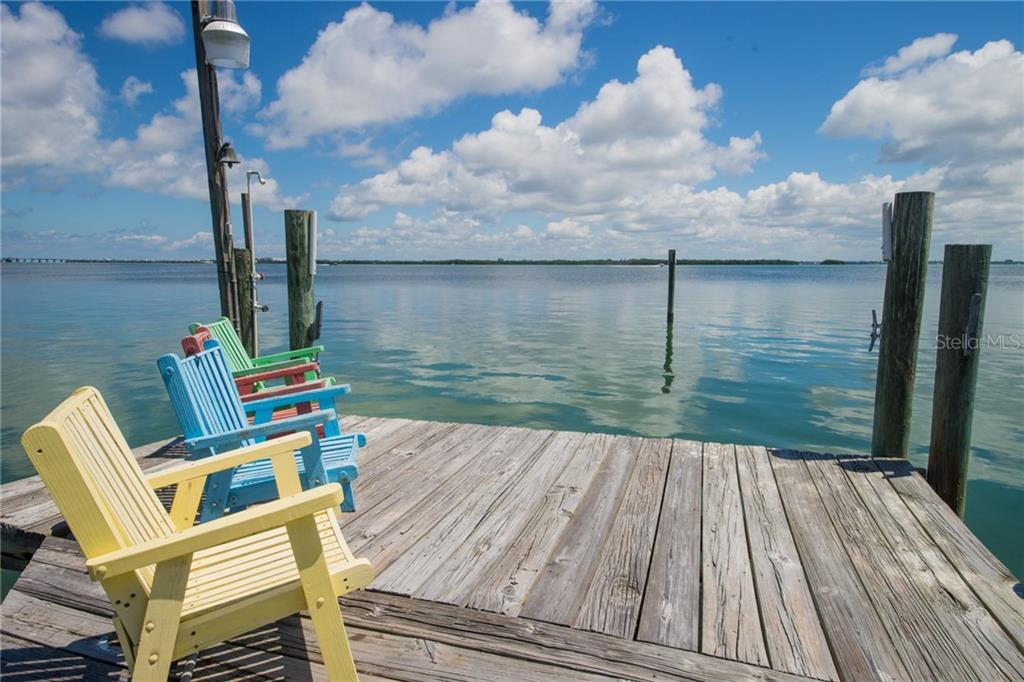 Deck at the end of the dock - Single Family Home for sale at 2405 Avenue A, Bradenton Beach, FL 34217 - MLS Number is A4433128