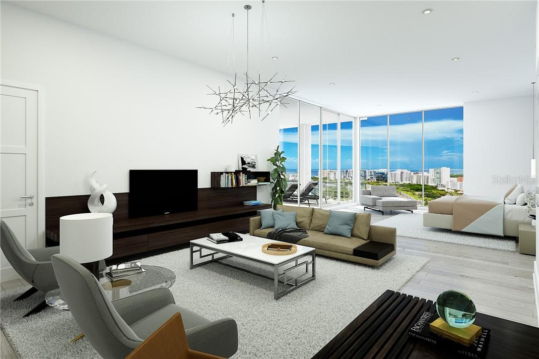 Owners' suite oversized sitting area - plenty of room for relaxation, retreat, rejuvenation. - Condo for sale at 605 S Gulfstream Ave #12, Sarasota, FL 34236 - MLS Number is A4441150