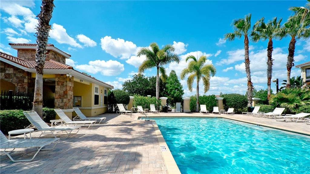 Community pool but  world famous Siesta Key beach is less than 6 miles away - Condo for sale at 7815 Moonstone Dr #24-204, Sarasota, FL 34233 - MLS Number is A4446867