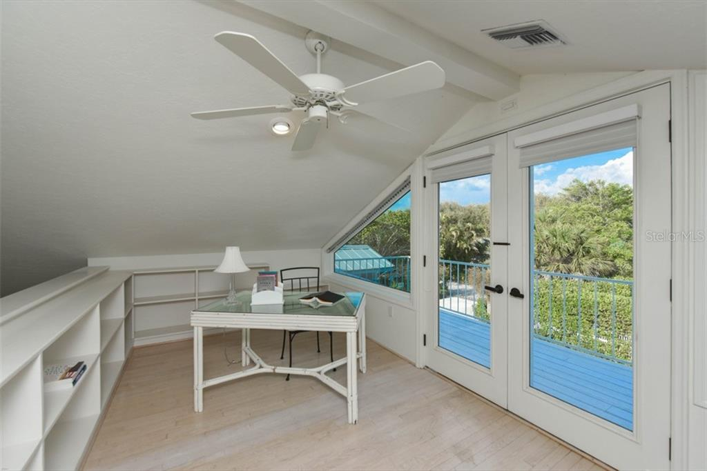 Private Balcony from Loft. - Single Family Home for sale at 1027 N Casey Key Rd, Osprey, FL 34229 - MLS Number is A4451976