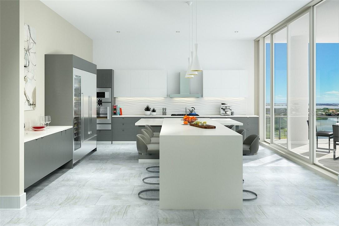 Dine in or delivery - the kitchen is sure to be an exciting hub of activity. - Condo for sale at 605 S Gulfstream Ave #15, Sarasota, FL 34236 - MLS Number is A4453705