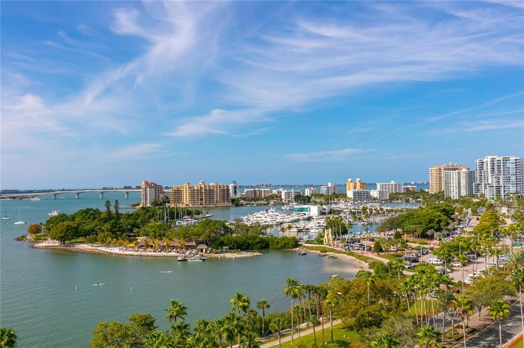 Actual view from main terrace. - Condo for sale at 500 S Palm Ave #91, Sarasota, FL 34236 - MLS Number is A4454405