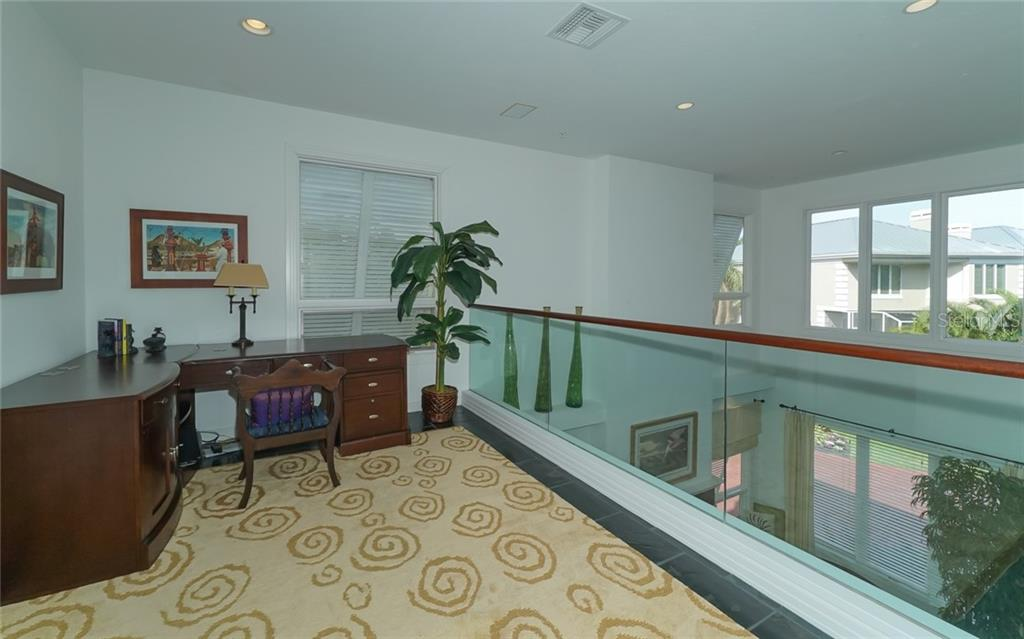 Loft overlooking great room - Condo for sale at 3994 Hamilton Club Cir #18, Sarasota, FL 34242 - MLS Number is A4455281