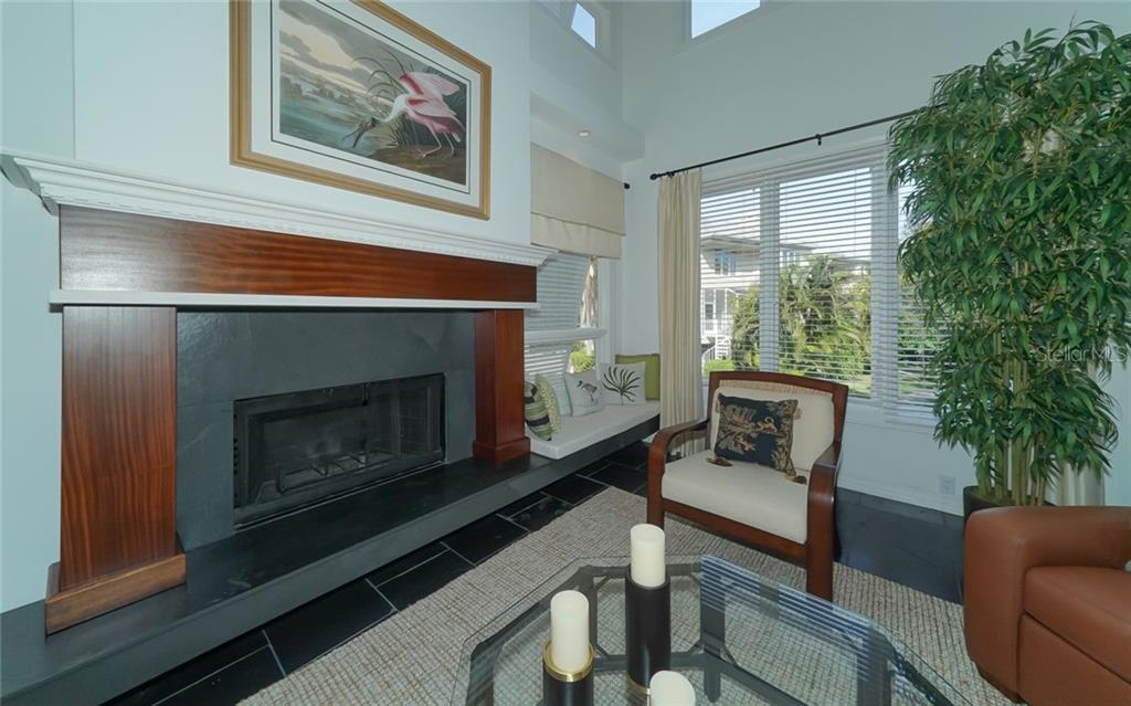 Wood-burning fireplace! - Condo for sale at 3994 Hamilton Club Cir #18, Sarasota, FL 34242 - MLS Number is A4455281