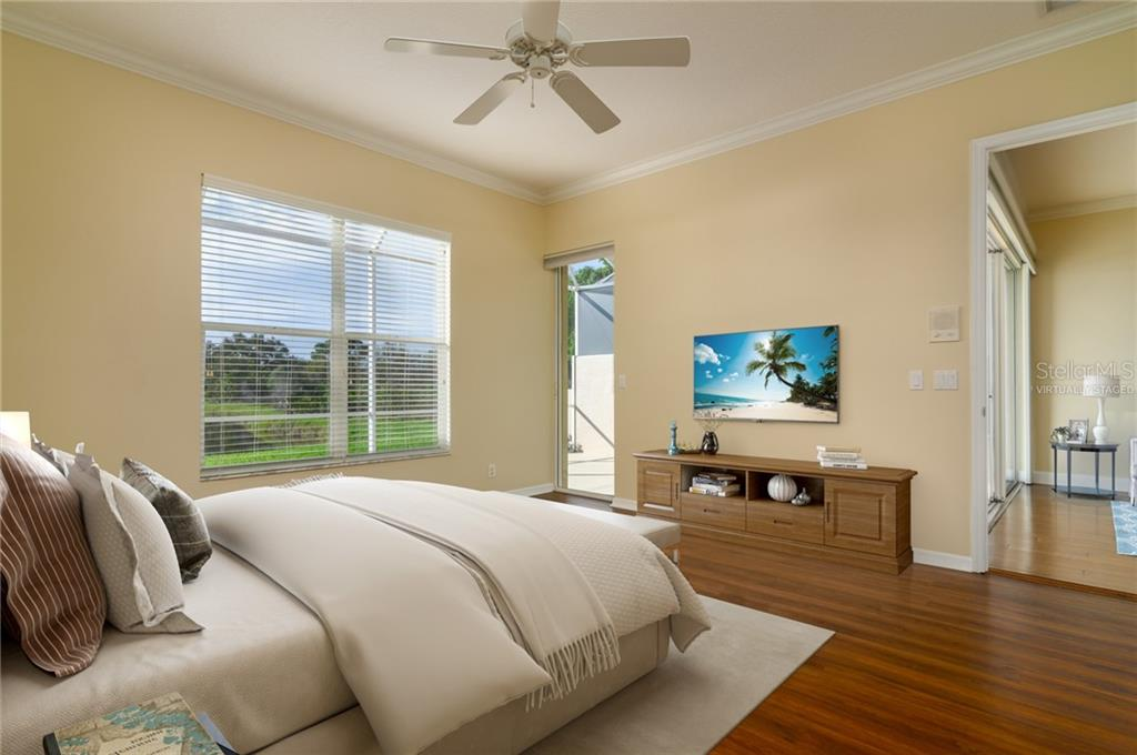 Master bedroom Virtually Staged - Villa for sale at 4560 Samoset Dr, Sarasota, FL 34241 - MLS Number is A4455487