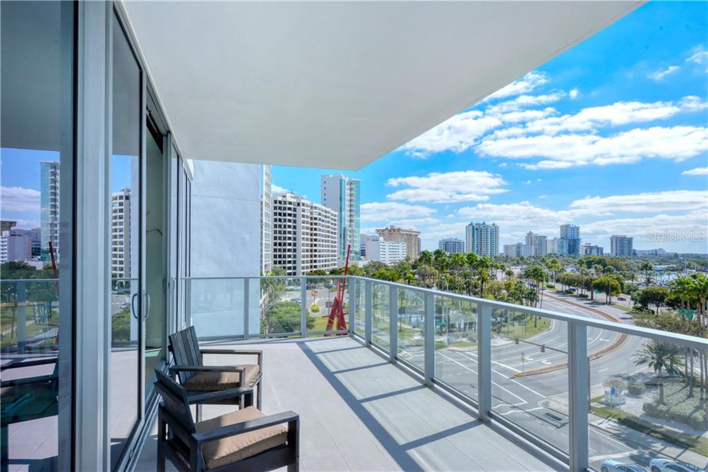 City view from the 30' terrace - Condo for sale at 1155 N Gulfstream Ave #507, Sarasota, FL 34236 - MLS Number is A4458926