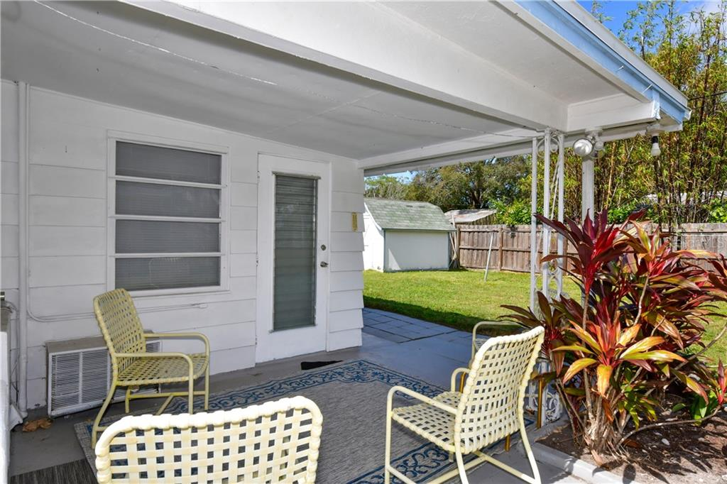 Additional outdoor rear porch shot - Single Family Home for sale at 2703 Trinidad St, Sarasota, FL 34231 - MLS Number is A4460680