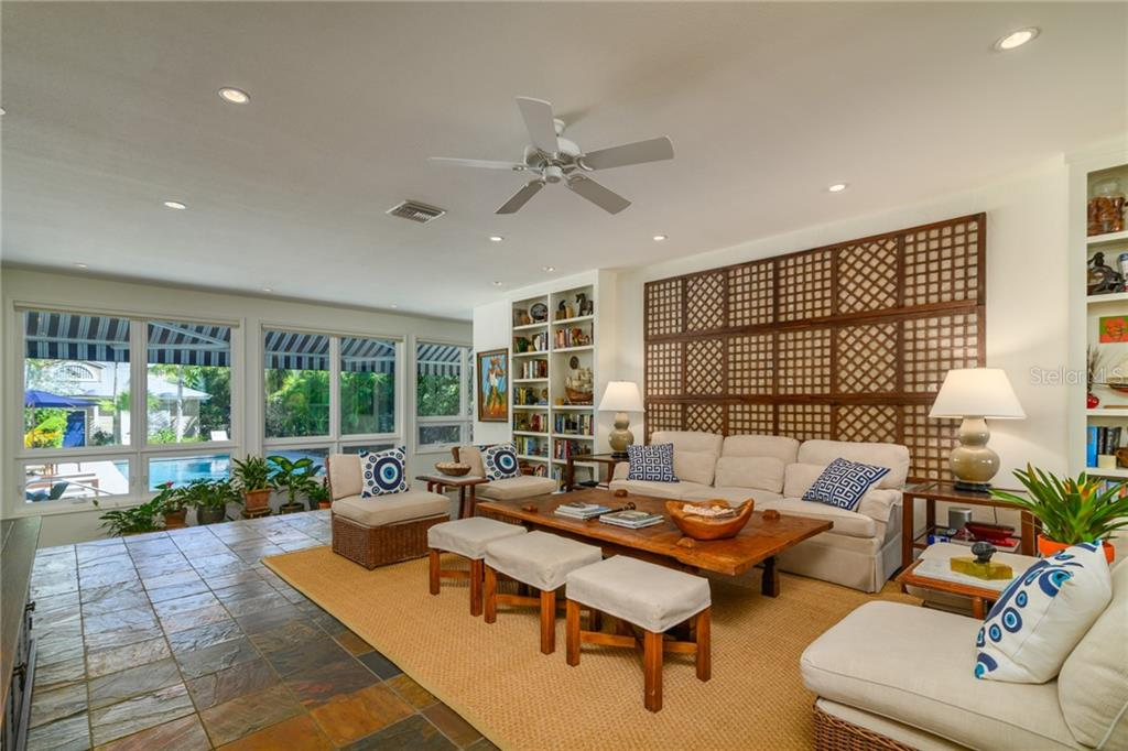 Great Room w/ View of Pool - Single Family Home for sale at 7340 Point Of Rocks Rd, Sarasota, FL 34242 - MLS Number is A4461841