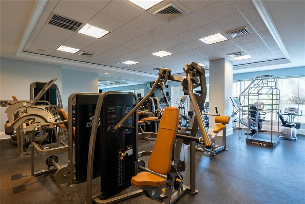fitness center - Condo for sale at 1300 Benjamin Franklin Dr #805, Sarasota, FL 34236 - MLS Number is A4462621