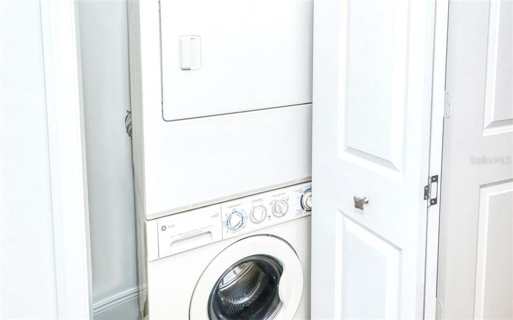 Washer and dryer in the unit - Condo for sale at 100 Central Ave #A401, Sarasota, FL 34236 - MLS Number is A4463296