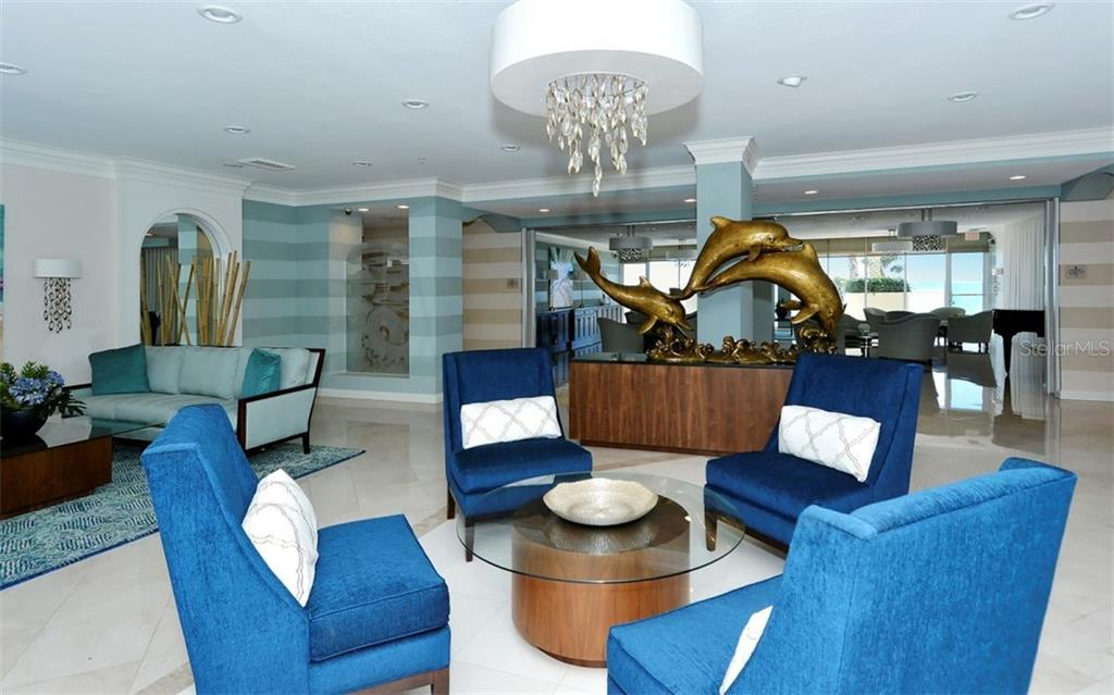 L'Elegance lobby - Condo for sale at 1800 Benjamin Franklin Dr #B1009, Sarasota, FL 34236 - MLS Number is A4463964