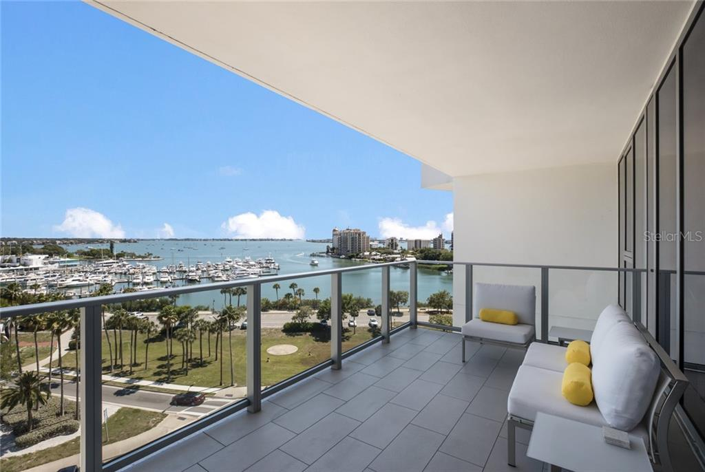A glass railing means nothing obstructs your phenomenal view! - Condo for sale at 1155 N Gulfstream Ave #708, Sarasota, FL 34236 - MLS Number is A4466759