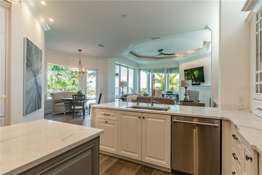 Enjoy the full bay view from cooktop/sink area of kitchen - Single Family Home for sale at 1418 John Ringling Pkwy, Sarasota, FL 34236 - MLS Number is A4467093
