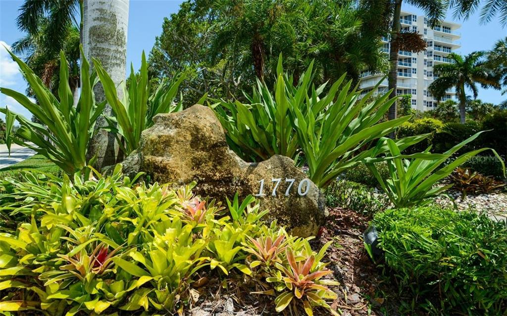 Tropical landscaping. - Condo for sale at 1770 Benjamin Franklin Dr #706, Sarasota, FL 34236 - MLS Number is A4469463