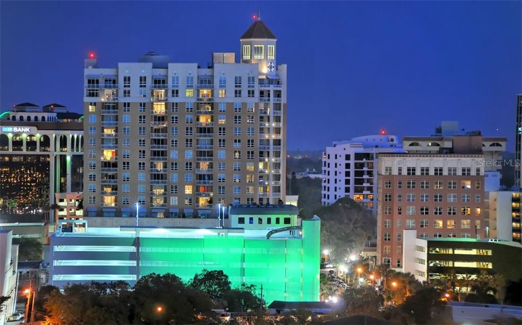 Downtown Sarasota at night - Condo for sale at 1350 Main St #1001, Sarasota, FL 34236 - MLS Number is A4472708