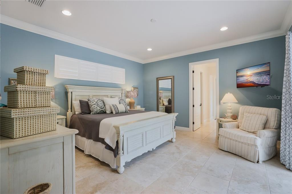 Master Bedroom on first floor - Single Family Home for sale at 1800 Loma Linda St, Sarasota, FL 34239 - MLS Number is A4474193