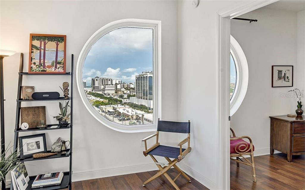 Rivo's distinctive windows create some interesting nooks - Condo for sale at 1771 Ringling Blvd #1110, Sarasota, FL 34236 - MLS Number is A4474683