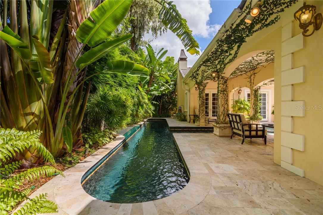 The tropical rain forest beckons you to take a refreshing dip in its aqua blue waters! - Single Family Home for sale at 1807 Oleander St, Sarasota, FL 34239 - MLS Number is A4475067
