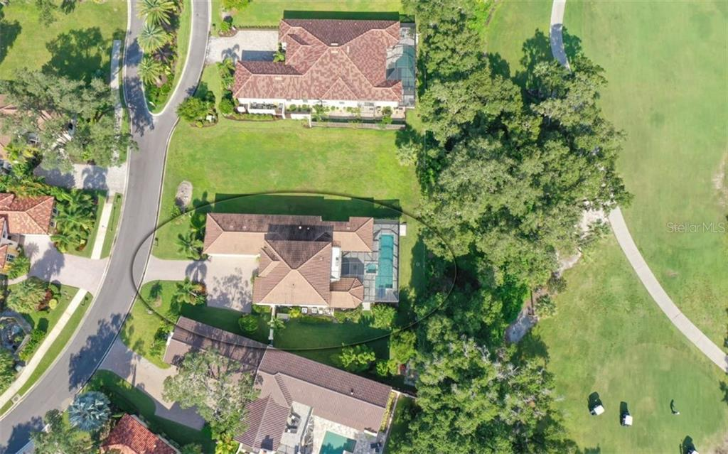 3538 Trebor Lane; Private roadway on the left; overlook Ninth Fairway on the right - Single Family Home for sale at 3538 Trebor Ln, Sarasota, FL 34235 - MLS Number is A4475545