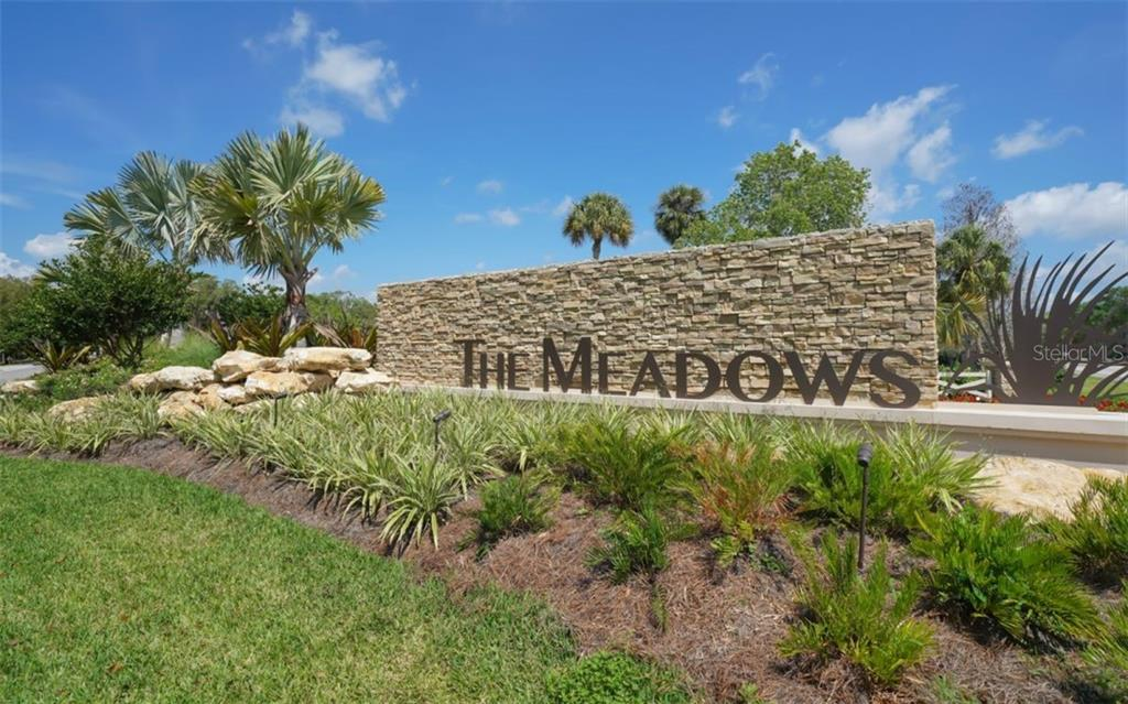 Meadows entrance - Single Family Home for sale at 3538 Trebor Ln, Sarasota, FL 34235 - MLS Number is A4475545
