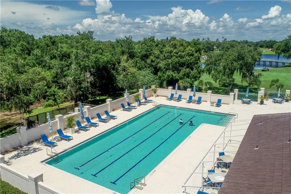 The junior-size Olympic swimming pool. - Single Family Home for sale at 9618 53rd Dr E, Bradenton, FL 34211 - MLS Number is A4477826