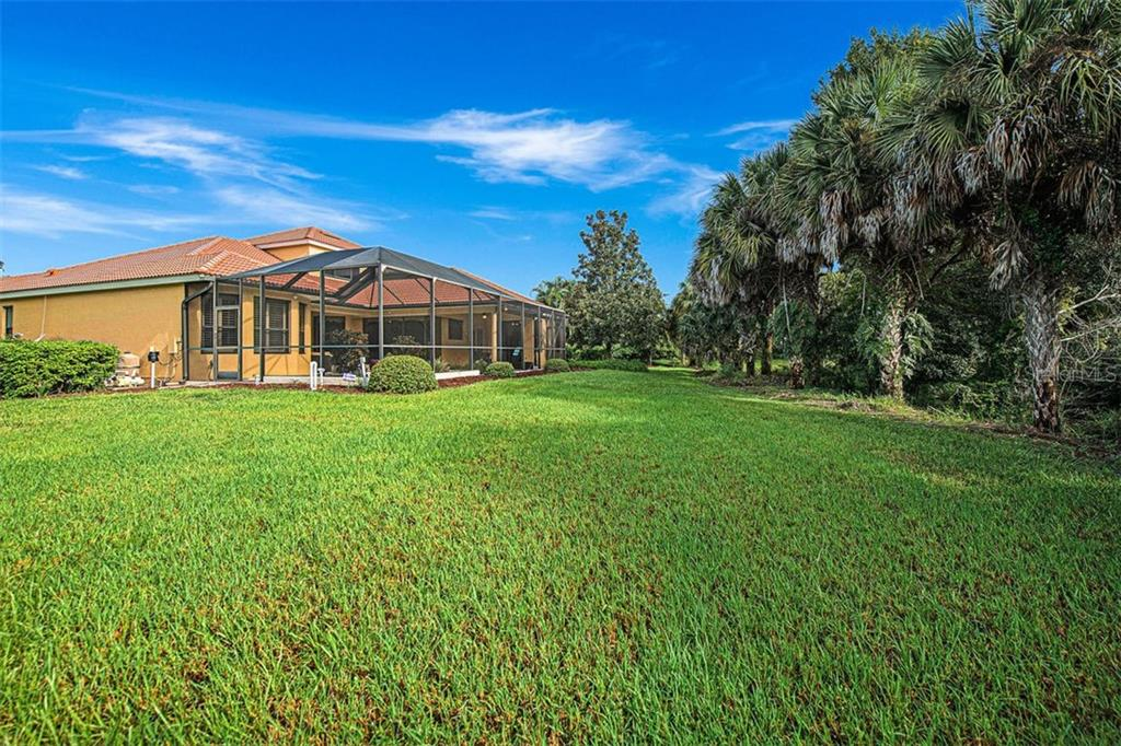 Large backyard and community greenbelt area - Single Family Home for sale at 684 Crane Prairie Way, Osprey, FL 34229 - MLS Number is A4478575