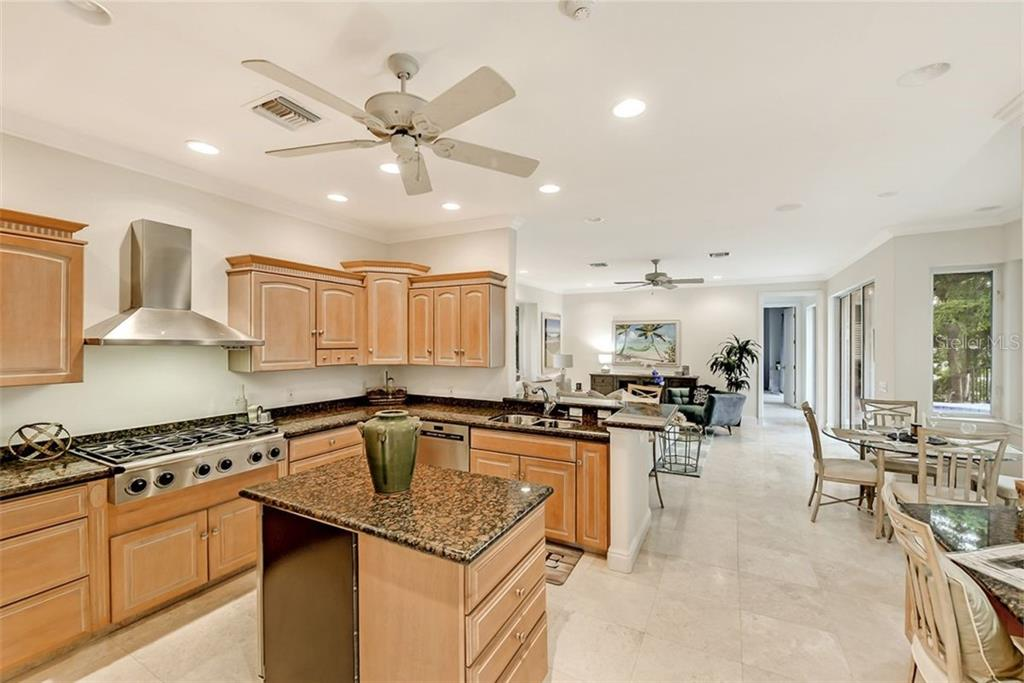 A chefs' delight for cooking with an 8 burner gas cook top ! - Single Family Home for sale at 501 Cutter Ln, Longboat Key, FL 34228 - MLS Number is A4480484