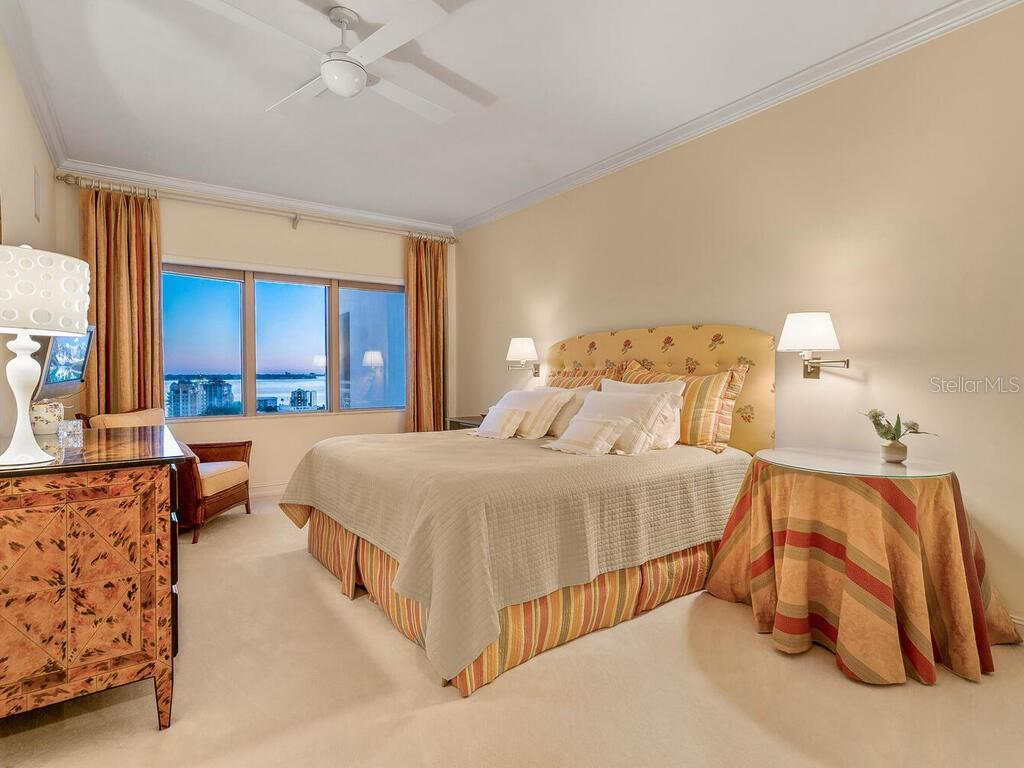 The third bedroom, which could also be used as a master, is located on the other side of the home from the other two bedrooms.  It is also en suite and features a large walk-in closet. - Condo for sale at 1111 Ritz Carlton Dr #1506, Sarasota, FL 34236 - MLS Number is A4480943