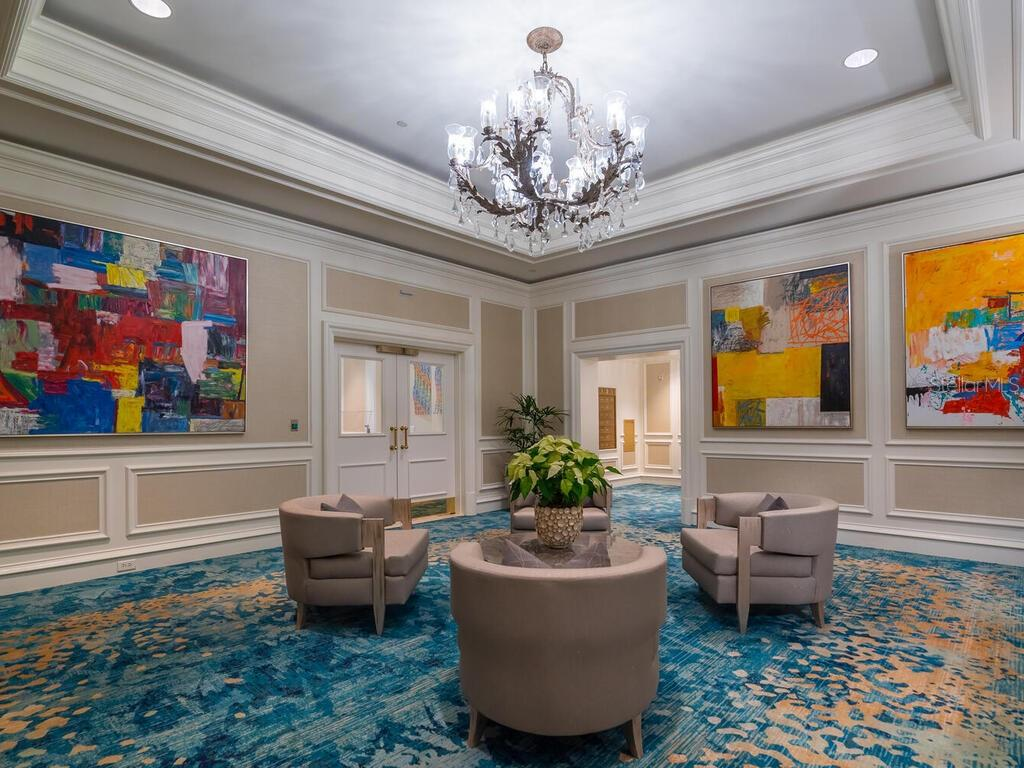 The main entrance lobby for The Residences is located adjacent to the hotel lobby. - Condo for sale at 1111 Ritz Carlton Dr #1506, Sarasota, FL 34236 - MLS Number is A4480943