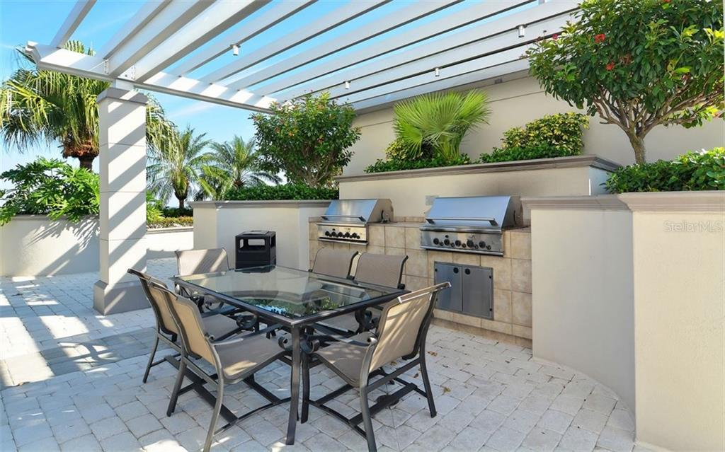 2 gas grills by the pool area - Condo for sale at 50 Central Ave #16a, Sarasota, FL 34236 - MLS Number is A4482401