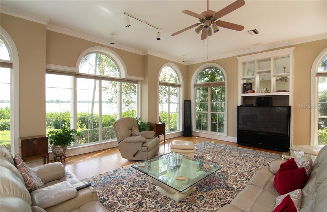 Endless water views from Family room. - Single Family Home for sale at Address Withheld, Sarasota, FL 34242 - MLS Number is A4483403