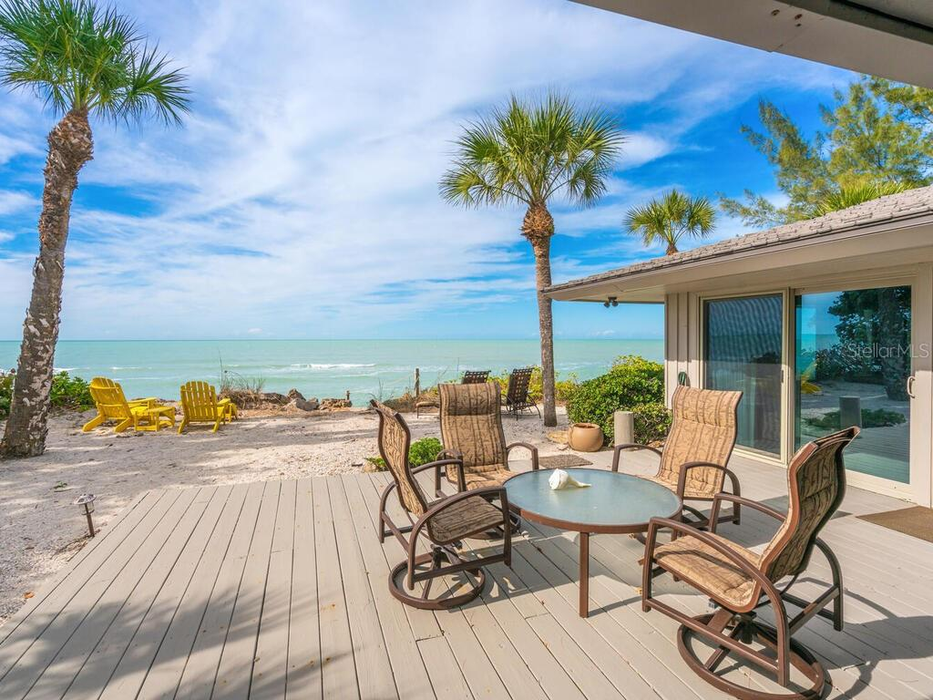 DECK OVERLOOKING GULF OF MEXICO - Single Family Home for sale at 4001 Casey Key Rd, Nokomis, FL 34275 - MLS Number is A4487481