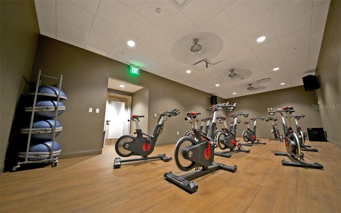 Fitness center at The Oaks, for spinning! - Condo for sale at 409 N Point Rd #402, Osprey, FL 34229 - MLS Number is A4491620