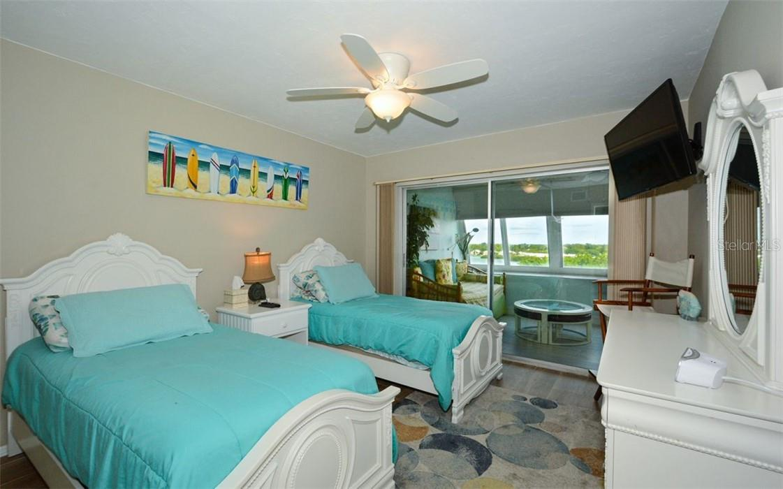 2nd Bedroom and view - Condo for sale at 1200 E Peppertree Ln #602, Sarasota, FL 34242 - MLS Number is A4495963