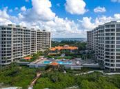 Aerial view of the Water Club. - Condo for sale at 1241 Gulf Of Mexico Dr #406, Longboat Key, FL 34228 - MLS Number is A4406877