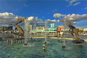Dolphin fountain in Bayfront Park - Condo for sale at 1350 Main St #1201, Sarasota, FL 34236 - MLS Number is A4427507