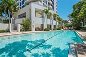 Heated 60 foot lap pool & spa. - Condo for sale at 401 S Palm Ave #402, Sarasota, FL 34236 - MLS Number is A4446224
