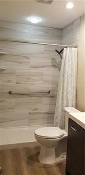 Bathroom shower with easy access - tiled walls and single basin shower floor so no dirty grout! - Condo for sale at 4613 Morningside #30, Sarasota, FL 34235 - MLS Number is A4460777