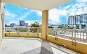 The terrace is partially covered - Condo for sale at 100 Central Ave #A401, Sarasota, FL 34236 - MLS Number is A4463296