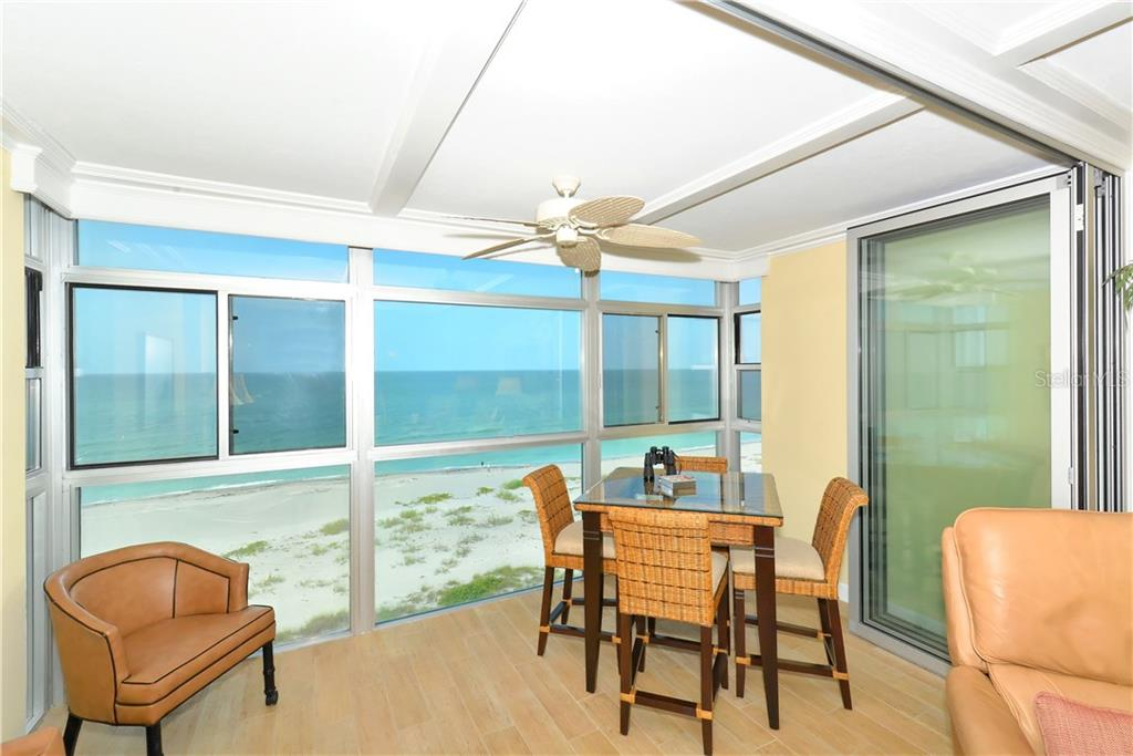 Amazing view of Gulf of Mexico from dining room, living room and balcony - Condo for sale at 255 The Esplanade N #706, Venice, FL 34285 - MLS Number is N5913875