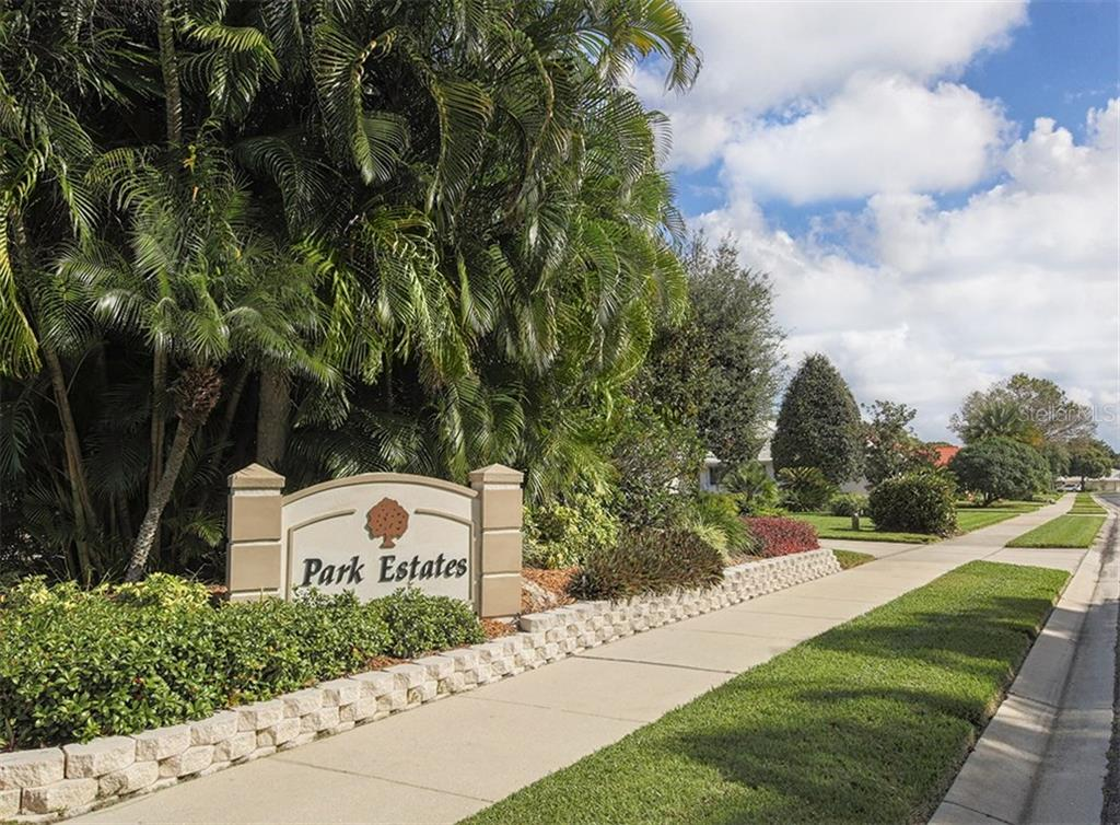 Community sign - Single Family Home for sale at 577 Park Estates Sq, Venice, FL 34293 - MLS Number is N5914129